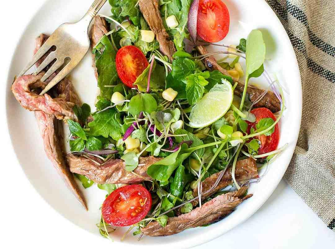 Grilled Marinated Skirt Steak Salad - Posh Journal