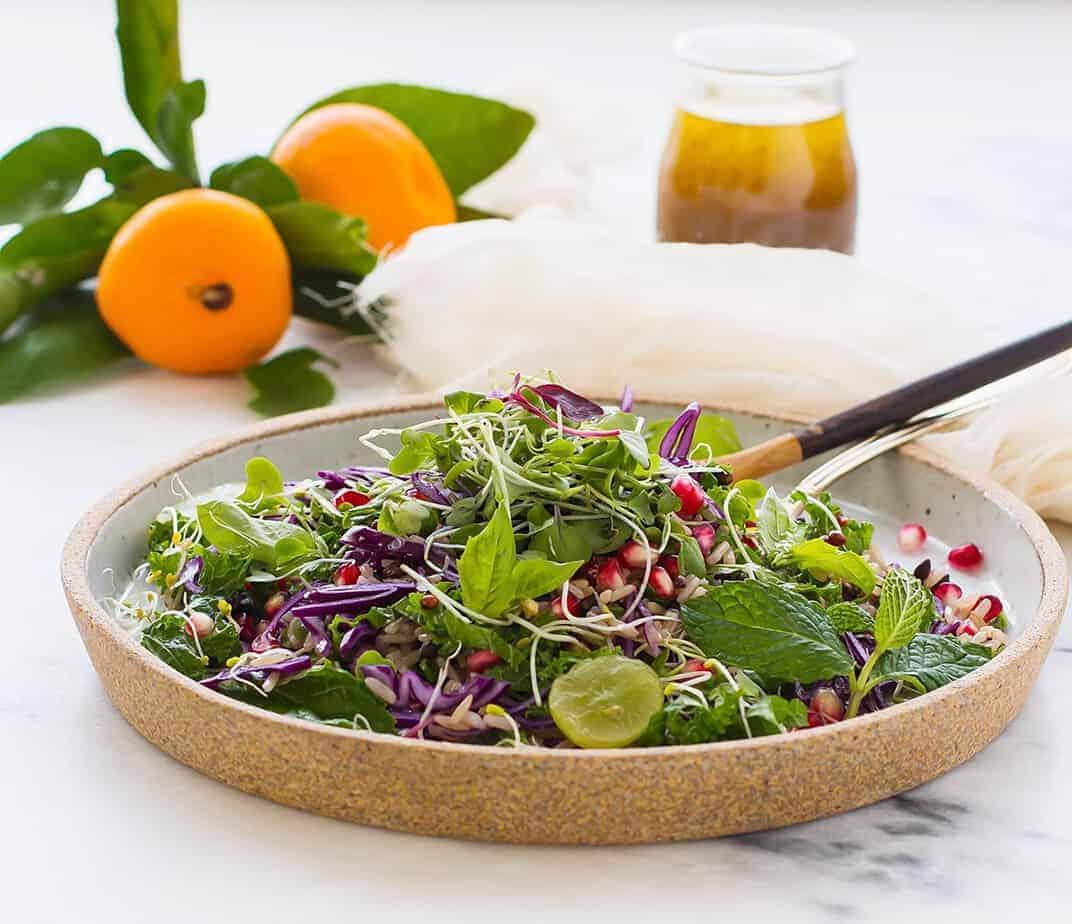Fall Salad with Orange Vinaigrette Dressing