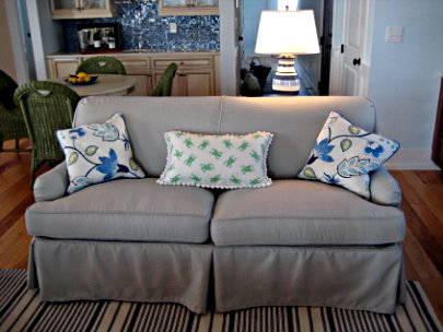 sofa with spring back