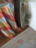 Front entry - Oushak carpet, silk tableskirt and sheers