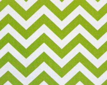 Chevron Zig zag Lime Green Fabric