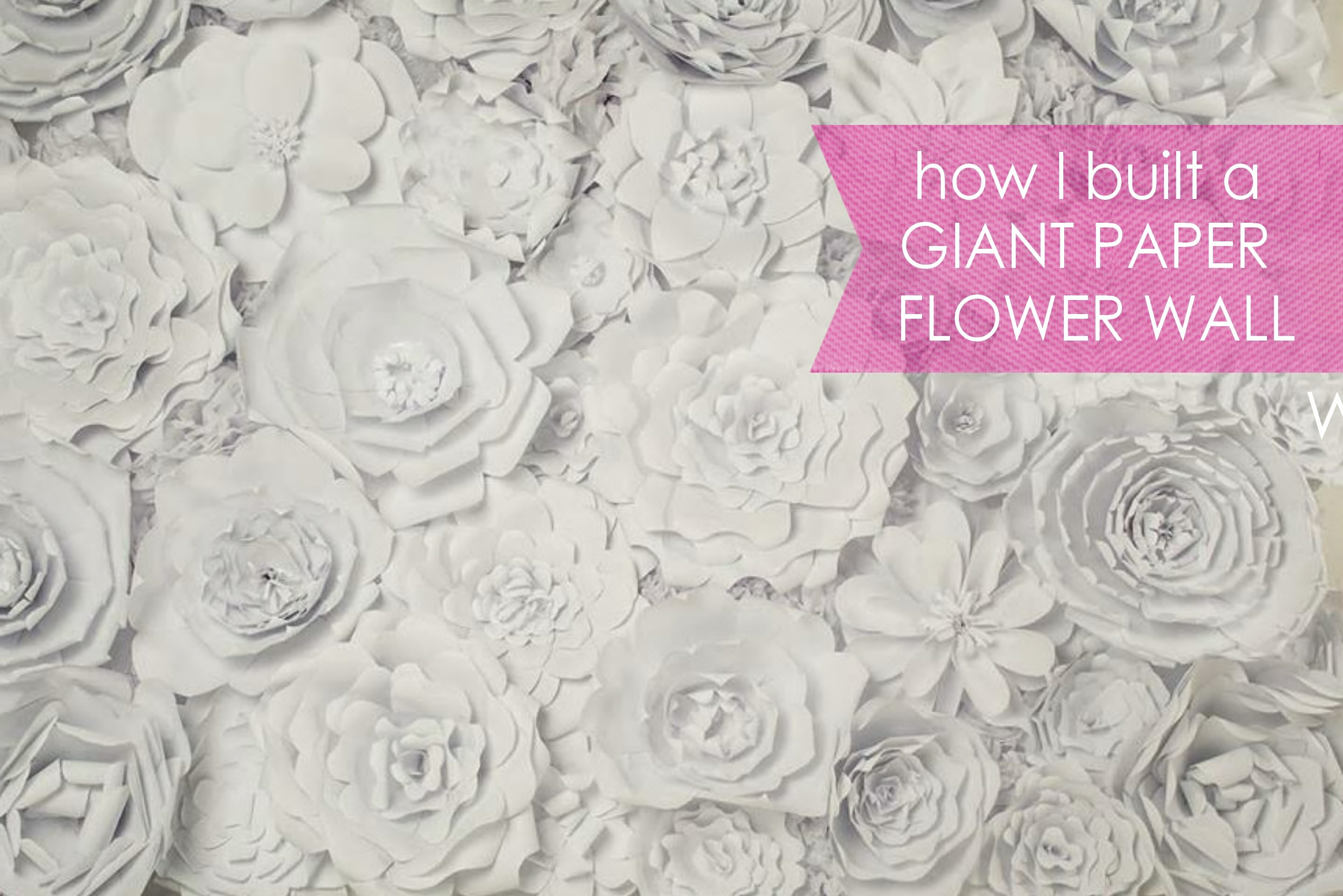 Modish Large Chanel Paper Flower Wall Inspired Wedding Backdrop How