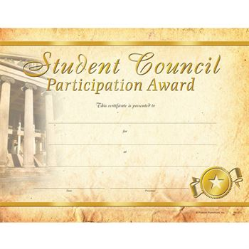 Science Award Foil Stamped Certificates STEM Positive Promotions - student council certificates