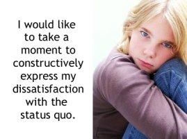 Constructive complaining