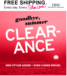 DSW new clearance
