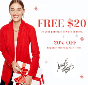 Lord&Taylor Sale 20% off - 20$ off