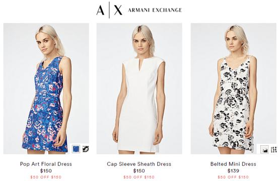 Armani Exchange 50$ off 150$