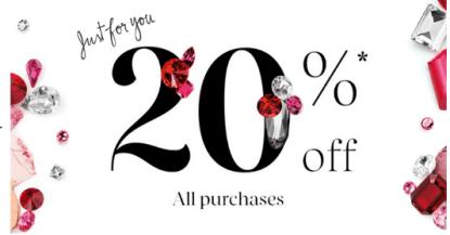 Sephora 20% off