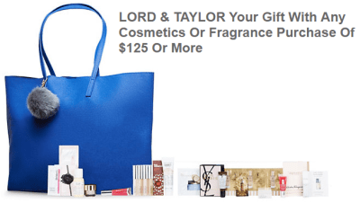 Beauty GWP Lord and Taylor