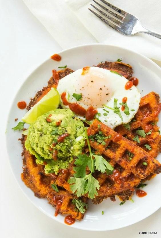 3-Ingredient Sweet Potato Waffles