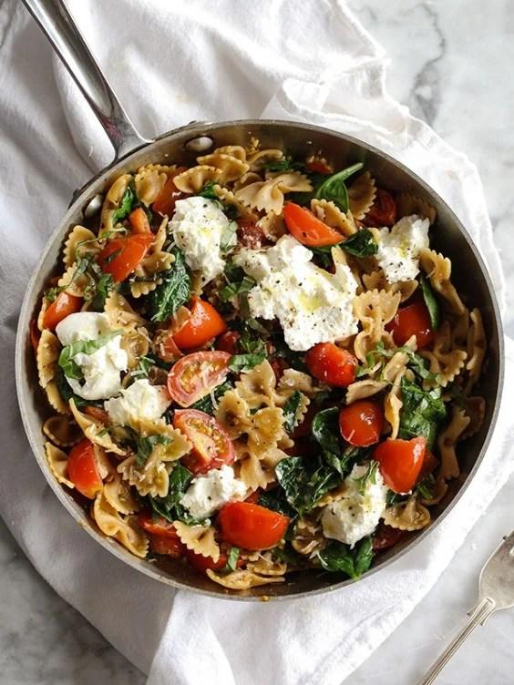 Fresh Tomato and Ricotta Whole-Wheat Pasta