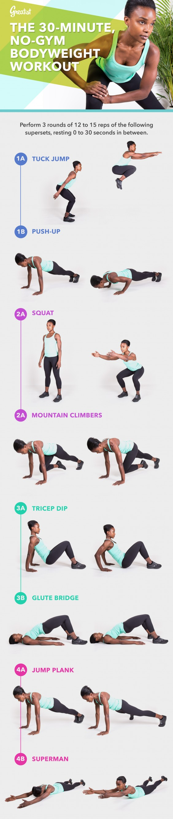 30-Minute, No-Gym Bodyweight Workout