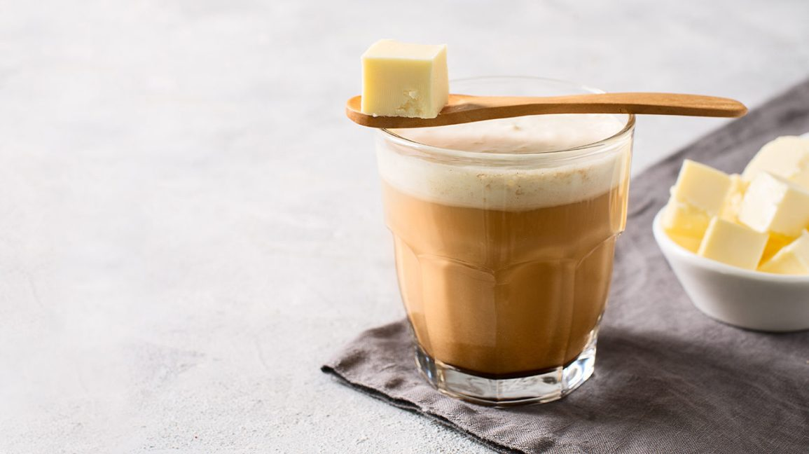 A glass of butter coffee