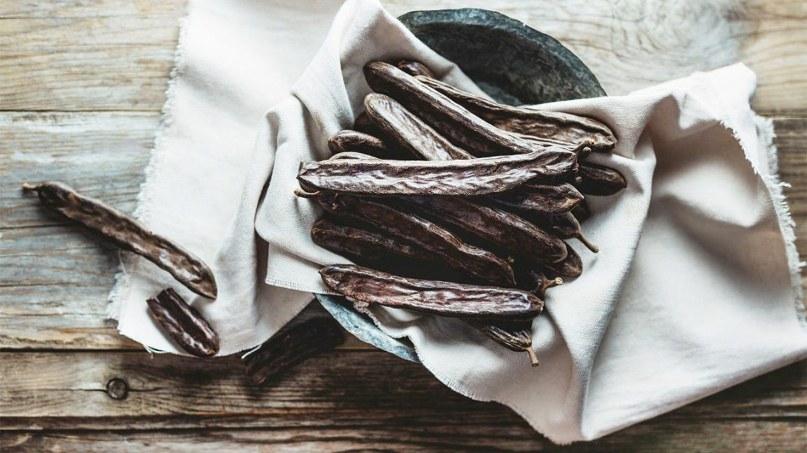 Carob tree seeds from which locust bean gum is made