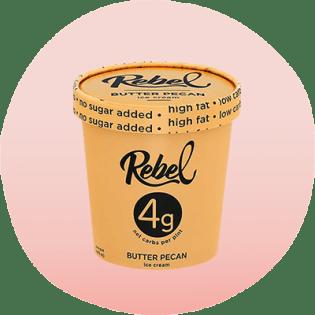 Rebel Butter Pecan ice cream