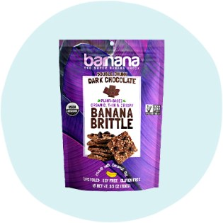 Barnana Organic Double Chunk Dark Chocolate Crunchy Banana Cookie Brittle