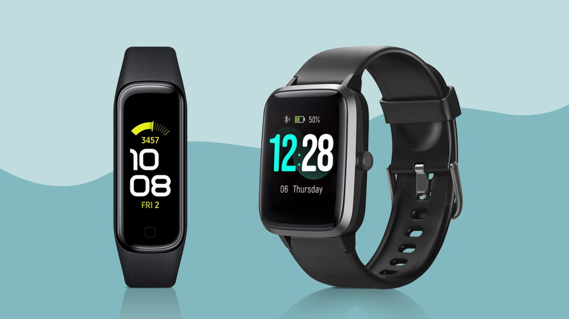 a selection of fitness trackers