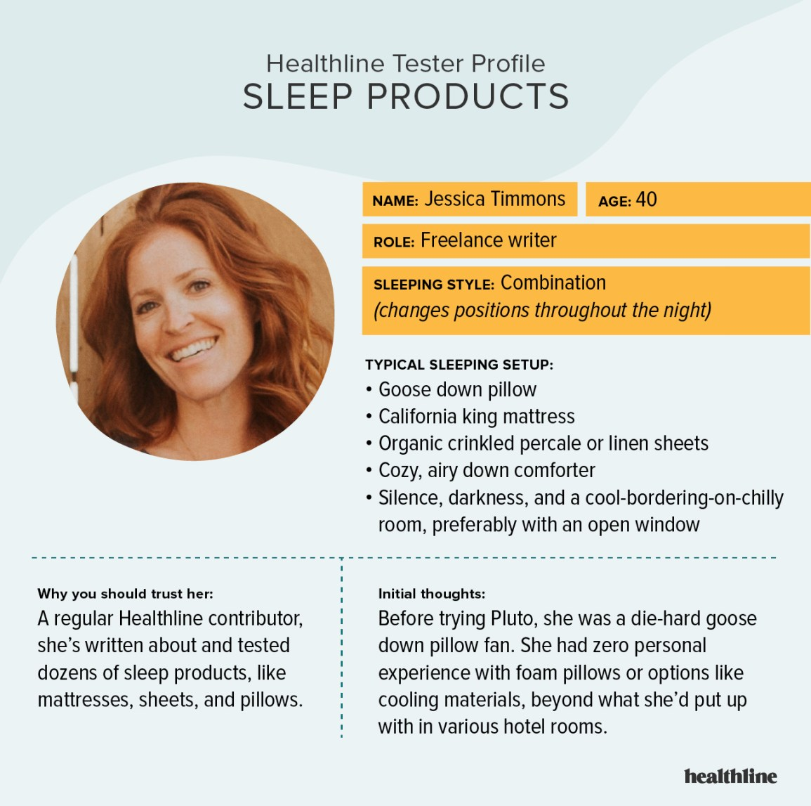 Jessica Timmons tester profile