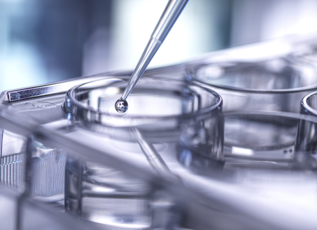 image of pipette with lab dishes