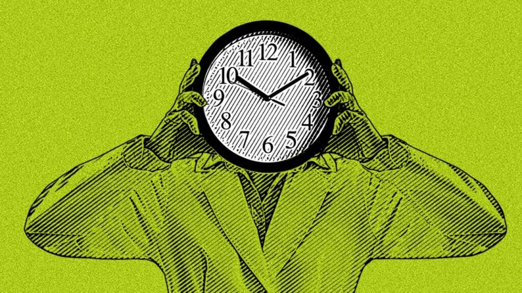 body clock concept illustration