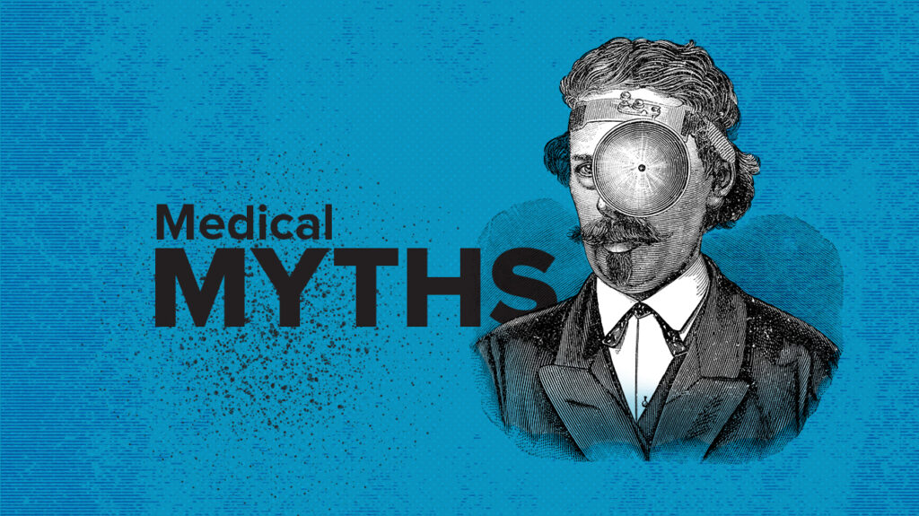 Blue Medical Myths logo