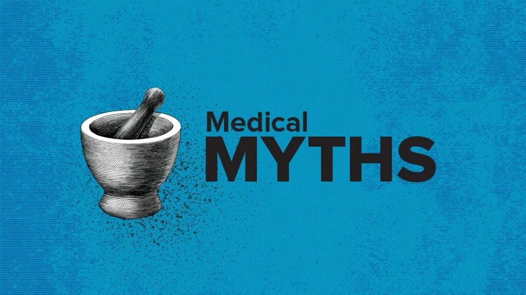 Medical myths logo petri dish