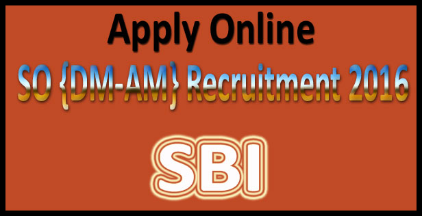 SBI SO recruitment 2015