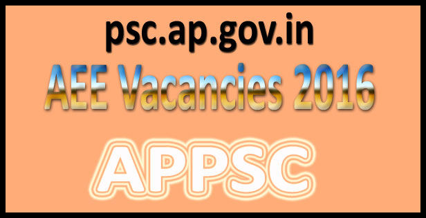 APPSC AEE Recruitment 2016