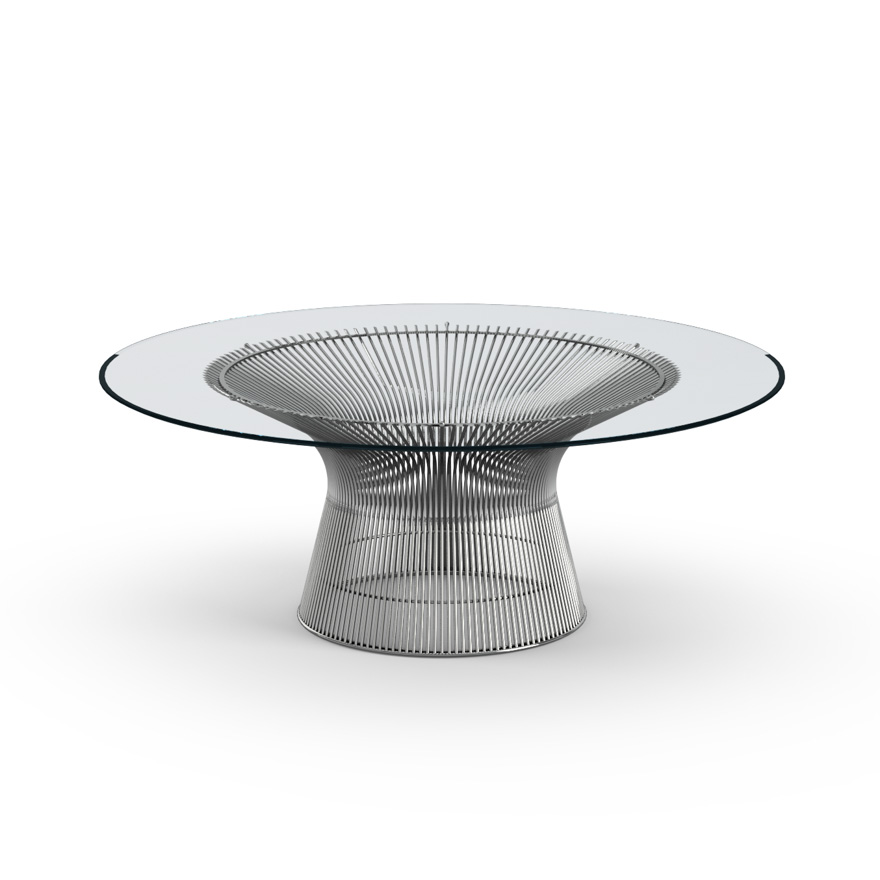 Couchtisch Nickel Glas Knoll Platner Coffee Table