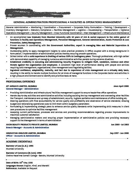 sample resume for non technical jobs