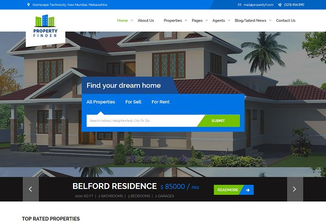 31+ Real Estate HTML Website Templates - Postashio - property management websites templates