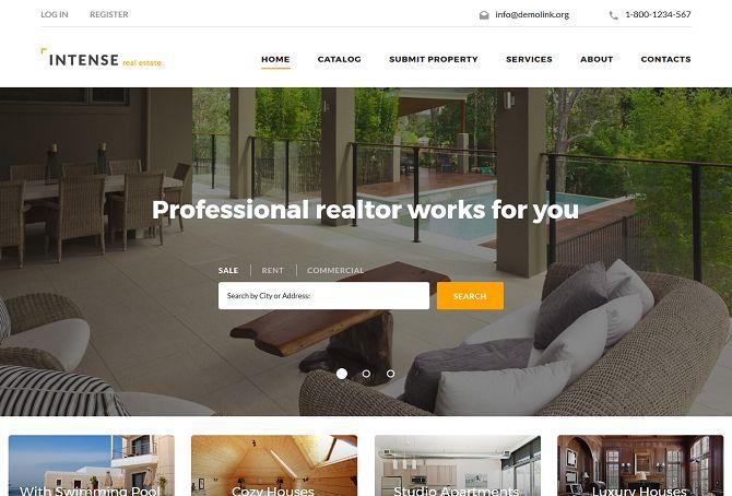 31+ Real Estate HTML Website Templates - Postashio