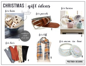Postbox Designs Gift Ideas for 2015