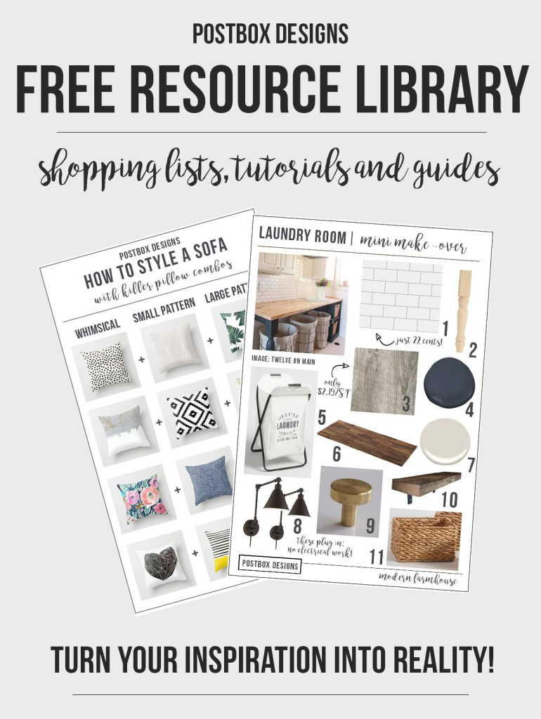 Postbox Designs Interior E-Design Free Resource Library