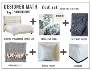 Designer Math Mondays: Bedding Set