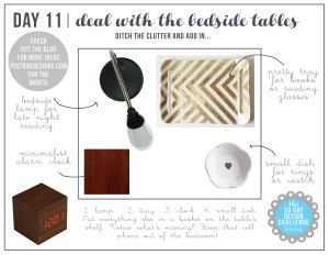 30 Day Design Challenge: Day 11 Deal with the Bedside Tables