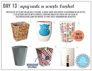 30 Day Design Challenge: Day 13 Pretty Up Your Wastebasket