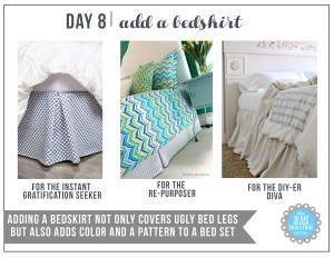 30 Day Design Challenge: Day 8 Add a Bedskirt