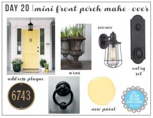 30 Day Design Challenge: Day 20: Easy Front Door Makeover
