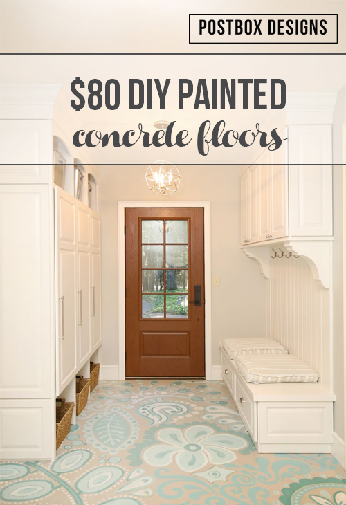 $80 Makeover: How To Paint Your Ugly Concrete Floors!   Postbox Designs