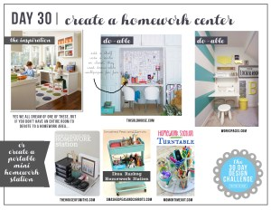 30 Day Design Challenge: The Final Day! Create a Mini Homework Center