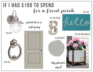 If I Had $150….Front Porch Makeover