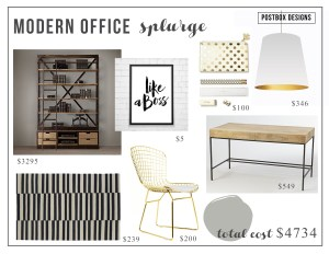 Modern Glam Office Copycat: Two Offices: 1 High & 1 Low