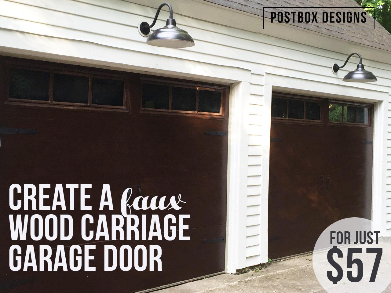 my $57 garage door makeover: how to knock off expensive wood doors
