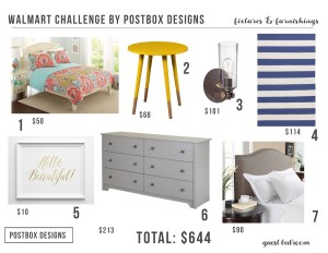 Create a Room Entirely From Walmart? A $644 Guest Bedroom Makeover!