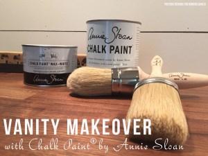 One Room Challenge: Bathroom Makeover Week #4 + Chalk Paint Tutorial!