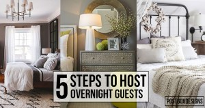 5 Simple Steps To Hosting Overnight Holiday Guests + A Shopping List!