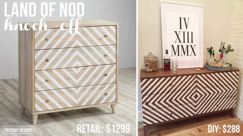 $288 Land of Nod Dresser Knock Off Tutorial by Postbox Designs