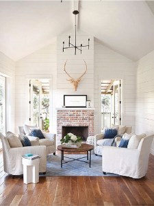 Fixer Upper Fireplace Makeover with Just 4 Items…..