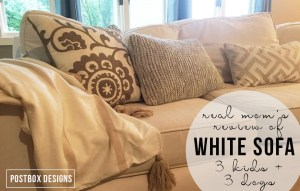 Thinking White? A REAL Review of a White Couch (with 3 Kids + 3 Dogs)
